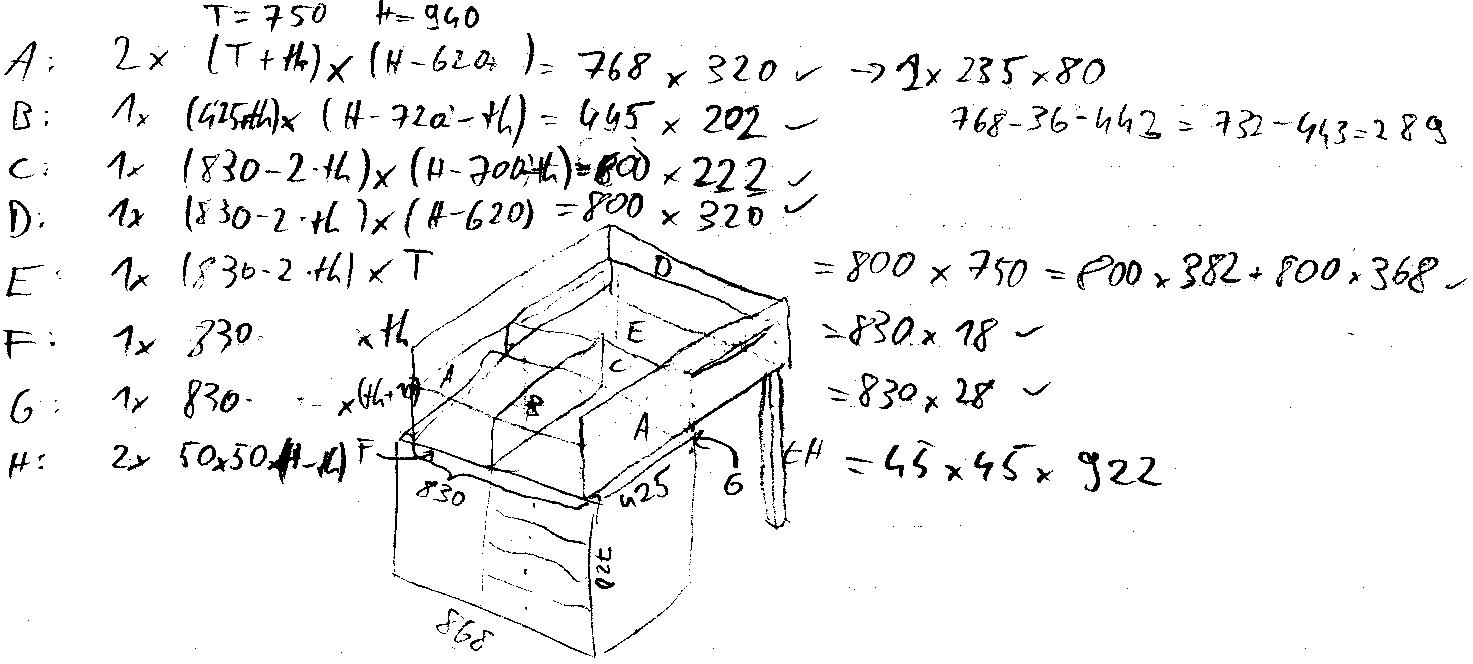 Hochprofessionelle Skizze der Konstruktion